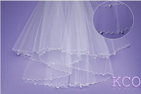 V044 White Communion Veil